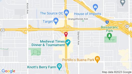 Quality Inn & Suites Buena Park Anaheim Map