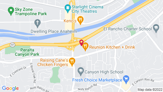 Fairfield Inn by Marriott Anaheim Hills Orange County Map