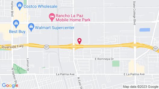 The Hotel Fullerton Anaheim Map