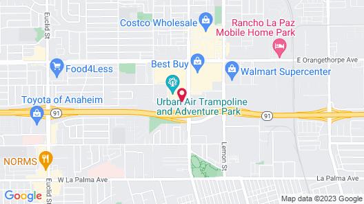 Howard Johnson Hotel&Conf Cntr by Wyndham Fullerton/Anaheim Map