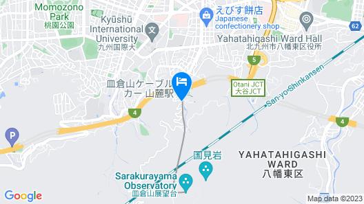 KitaKyushu Youth Hostel Map