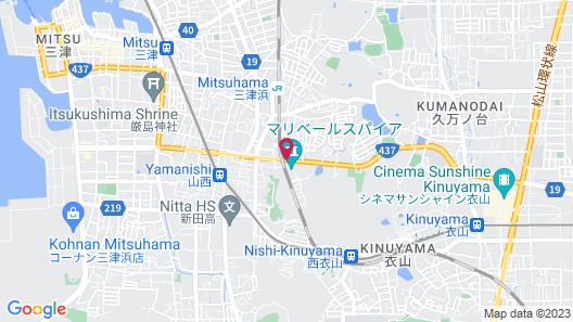 Hotel Fine Garden Matsuyama - Adults Only Map