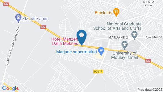 Hotel Menzeh Dalia Map