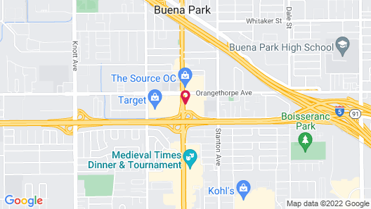 Holiday Inn Buena Park and Conference Center, an IHG Hotel Map