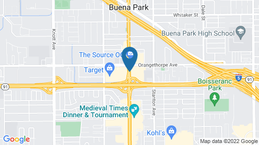 Holiday Inn Buena Park and Conference Center Map