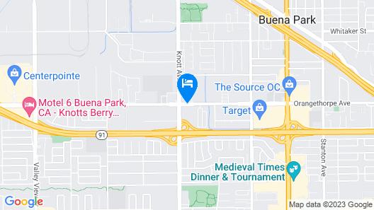 Good Nite Inn Buena Park Map