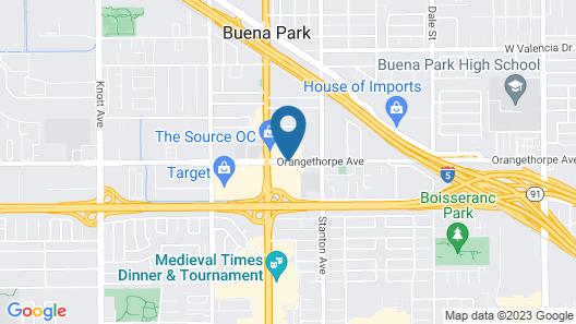 Fairfield Inn & Suites Anaheim Buena Park/Disney North Map