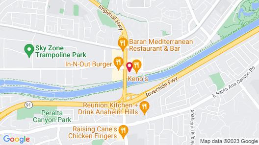 Motel 6 Anaheim Hills Map