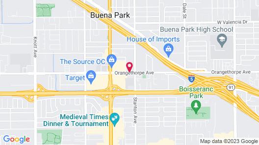 SureStay Hotel by Best Western Buena Park Anaheim Map