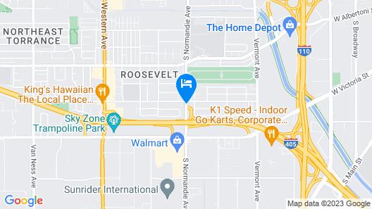 Travelodge Inn & Suites by Wyndham Gardena CA Map