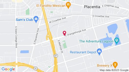 Best Western Plus Anaheim Orange County Hotel Map
