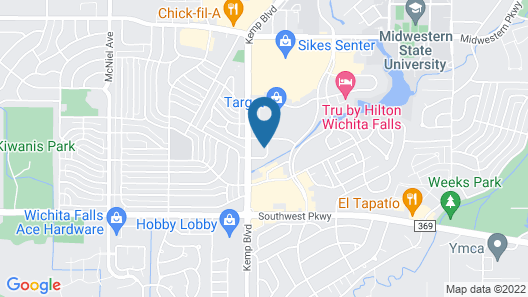 Comfort Inn Wichita Falls Near University Map