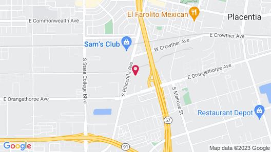 Quality Inn Placentia Anaheim Fullerton Map