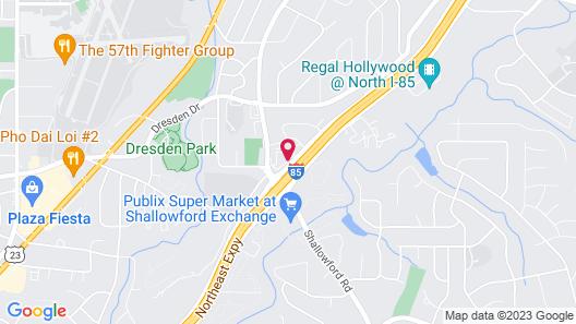 Quality Inn Atlanta Northeast I-85 Map
