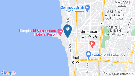 Coral Beach Hotel and Resort Beirut Map