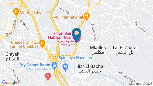 Hilton Beirut Habtoor Grand Map