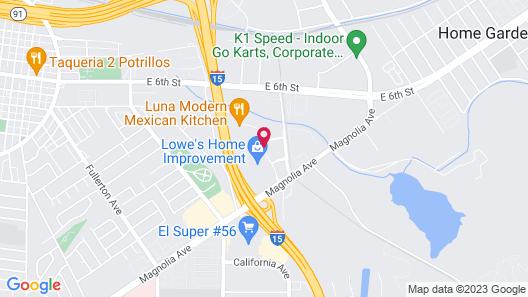 Residence Inn by Marriott Corona Riverside Map