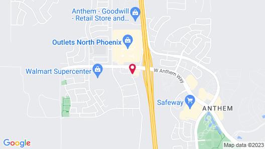 Hampton Inn Phoenix/Anthem Map