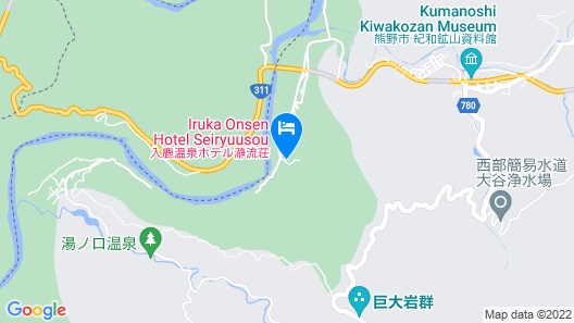 Iruka Onsen Hotel Seiryuusou Map