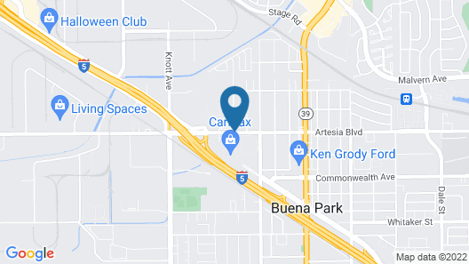 Hampton Inn & Suites Buena Park Map