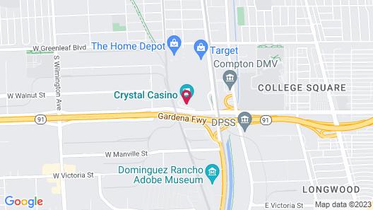 LA Crystal Hotel - Los Angeles Area Map