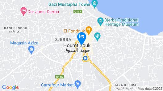 Le Grand Hotel Djerba Map