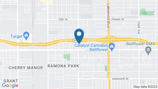 Motel 6 Bellflower, CA - Los Angeles Map
