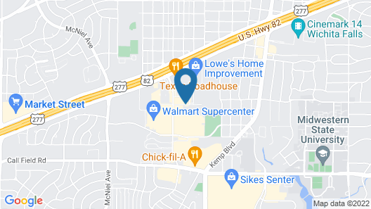 Courtyard by Marriott Wichita Falls Map