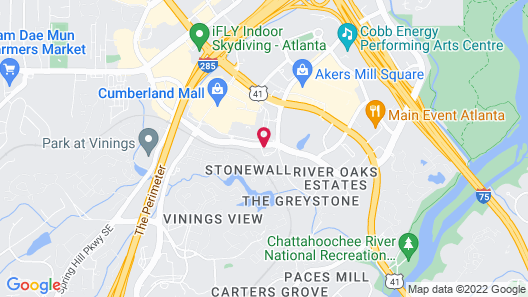 Sonesta Select Atlanta Cumberland Map