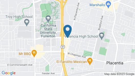 DoubleTree by Hilton Fullerton Map