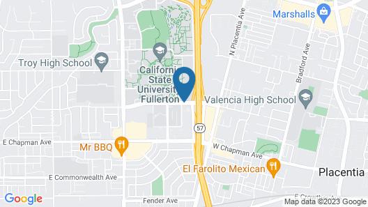 Fullerton Marriott at California State University Map