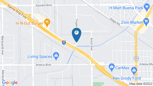 Extended Stay America Suites Los Angeles La Mirada Map