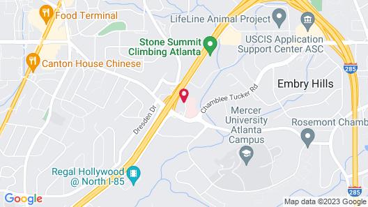Masters Inn Doraville Map