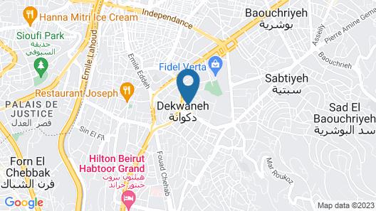 Urban Central Suites - Beirut Map