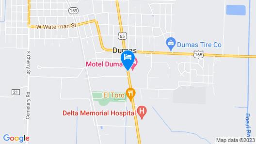 Days Inn by Wyndham Dumas Map