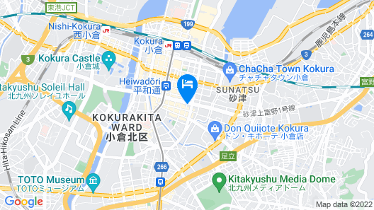 Hotel Crown Hills Kokura Map