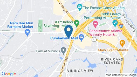 Hyatt Place Atlanta / Cobb Galleria Map
