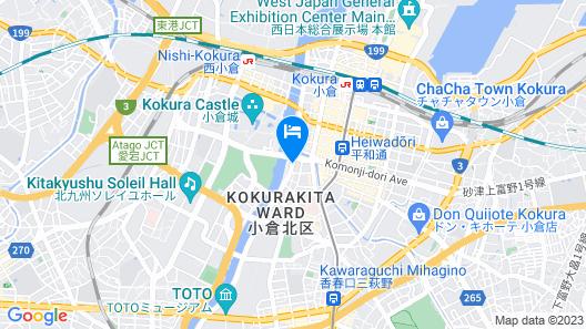 Hotel Crown Palais Kokura Map