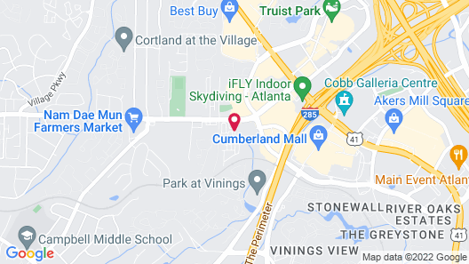 Extended Stay America - Atlanta - Cumberland Mall Map