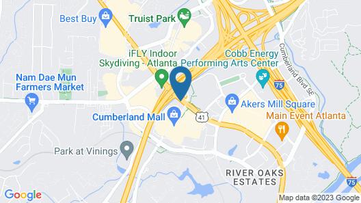 Sheraton Suites Galleria-Atlanta Map