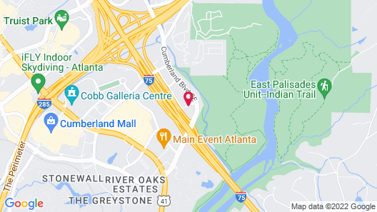 Hyatt House Atlanta Cobb Galleria Map