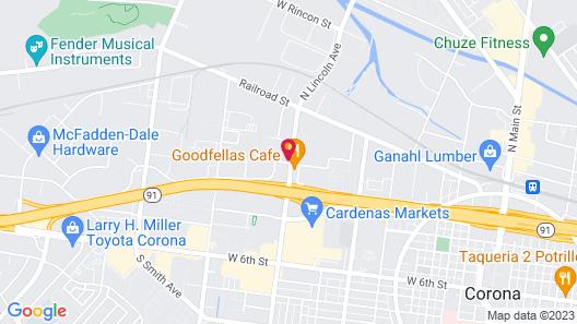 Motel 6 Corona, CA Map