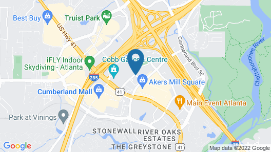 Renaissance Atlanta Waverly Hotel & Convention Center Map