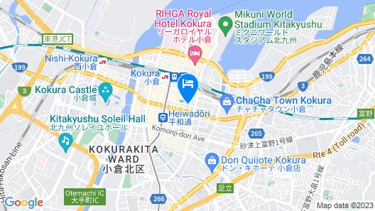 Nishitetsu Inn Kokura Map