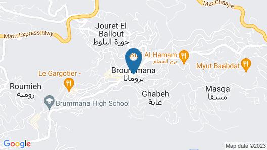Broumana Seaview Map