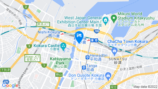 Super Hotel Kokuraeki Minamiguchi Map