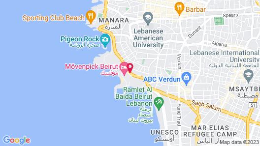 Lancaster Plaza Beirut Map