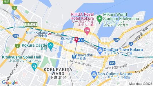 JR Kyushu Station Hotel Kokura Map