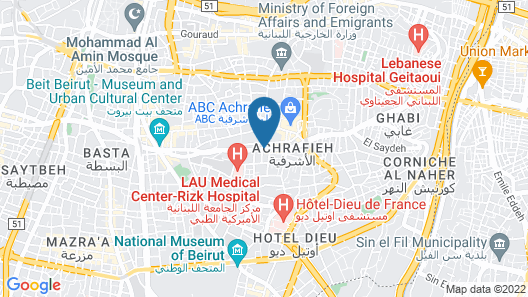 Sofitel Beirut Le Gabriel Map