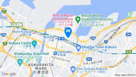 APA Hotel Kokura-Ekimae Map